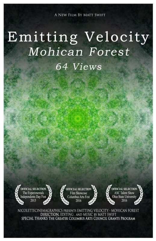 Emitting Velocity - Mohican Forest Poster